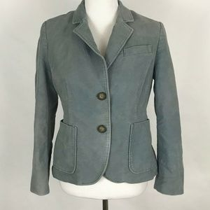 Boden Womens Jacket Size 6P Gray Long Sleeve